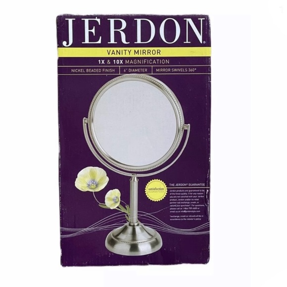 """Jerdon Other - Two Sided Table Top Vanity Mirror 6"""""""